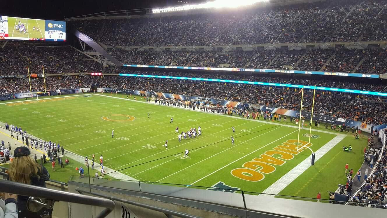 Soldier Field Section 302 Row 5 Seat 3