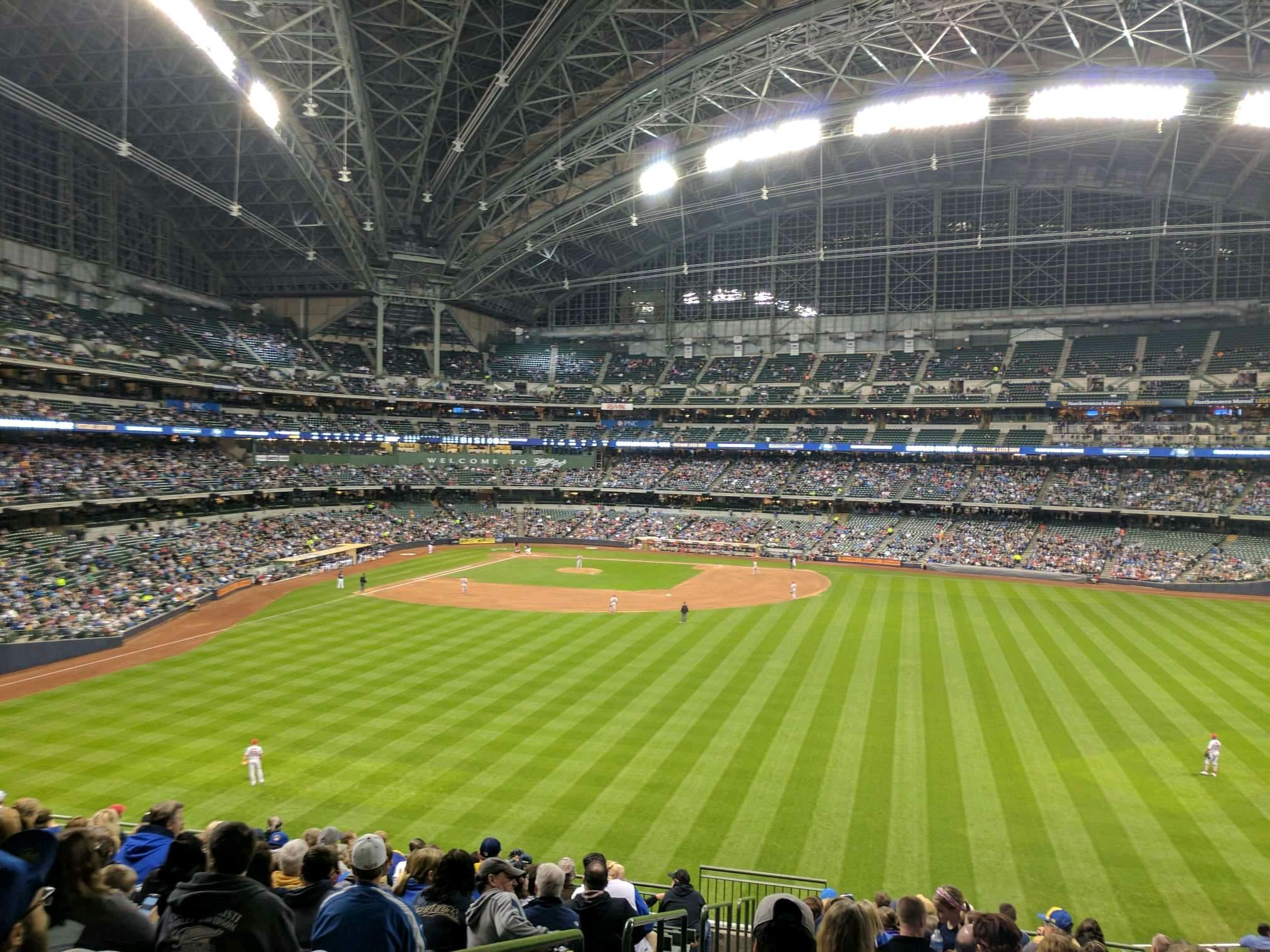 Miller Park Section 201 Row 14 Seat 1