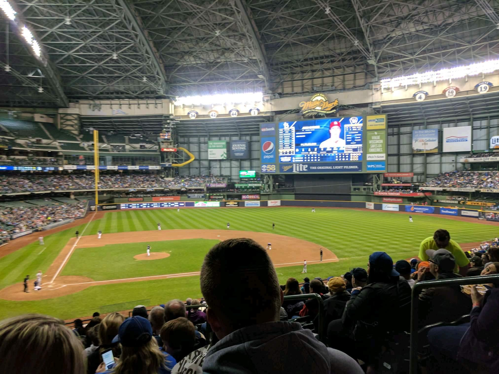 Miller Park Section 215 Row 15 Seat 20