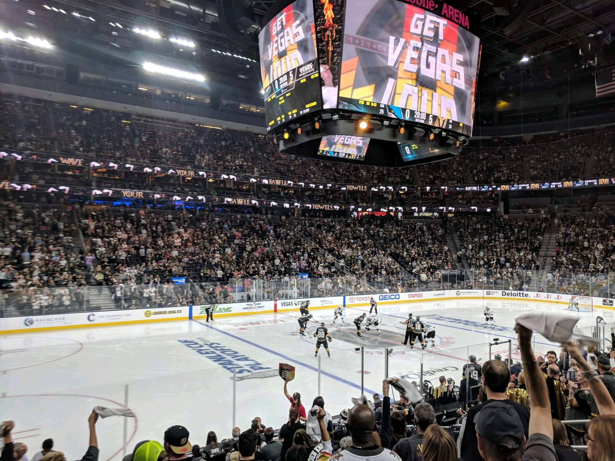 T-Mobile Arena Section 4 Row J Seat 4