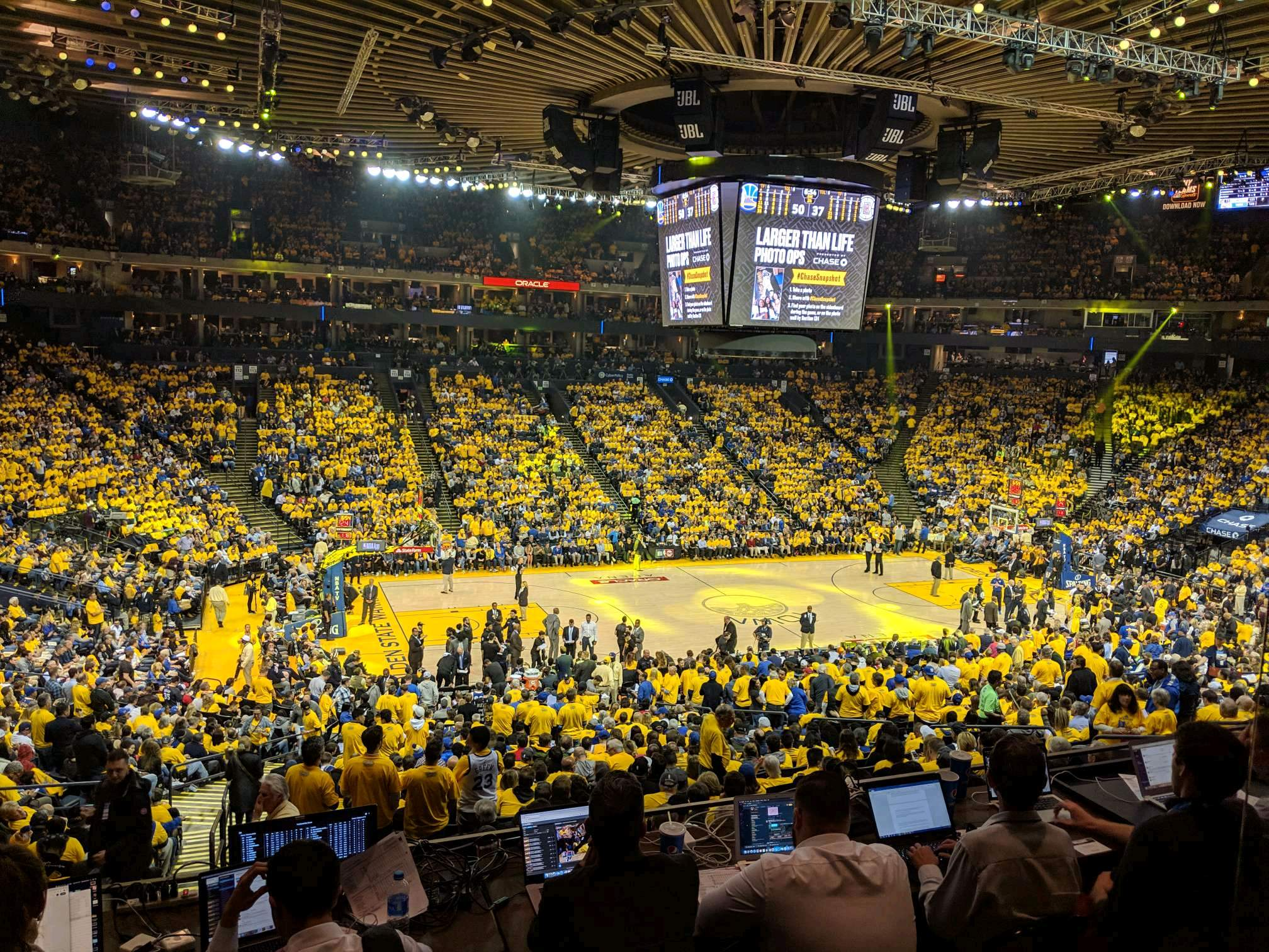 Oracle Arena Section C11 Row 2 Seat 2