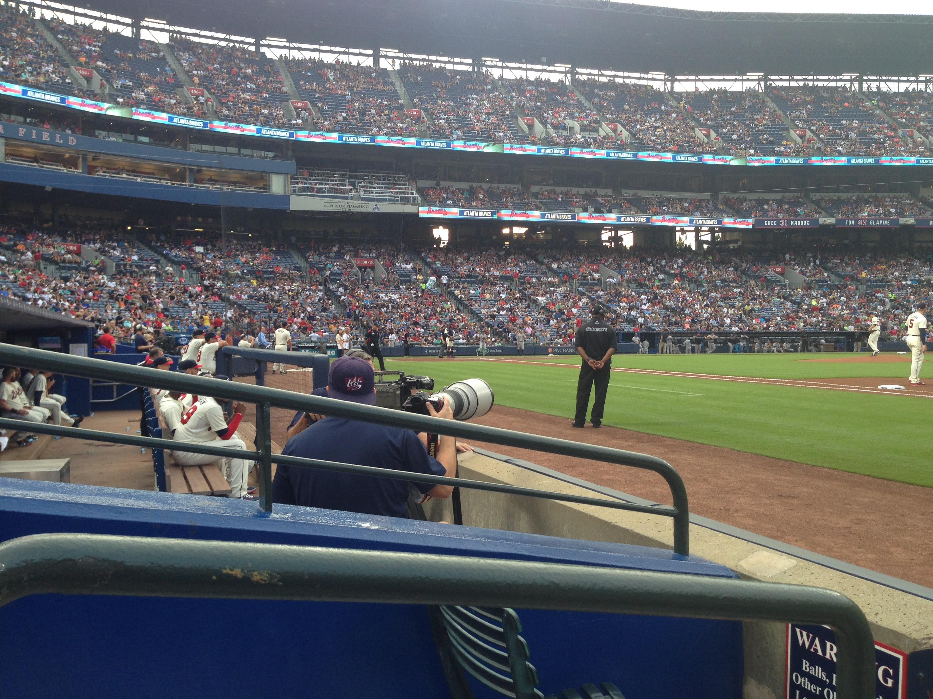 Turner Field Section 117r Row 2 Seat 1
