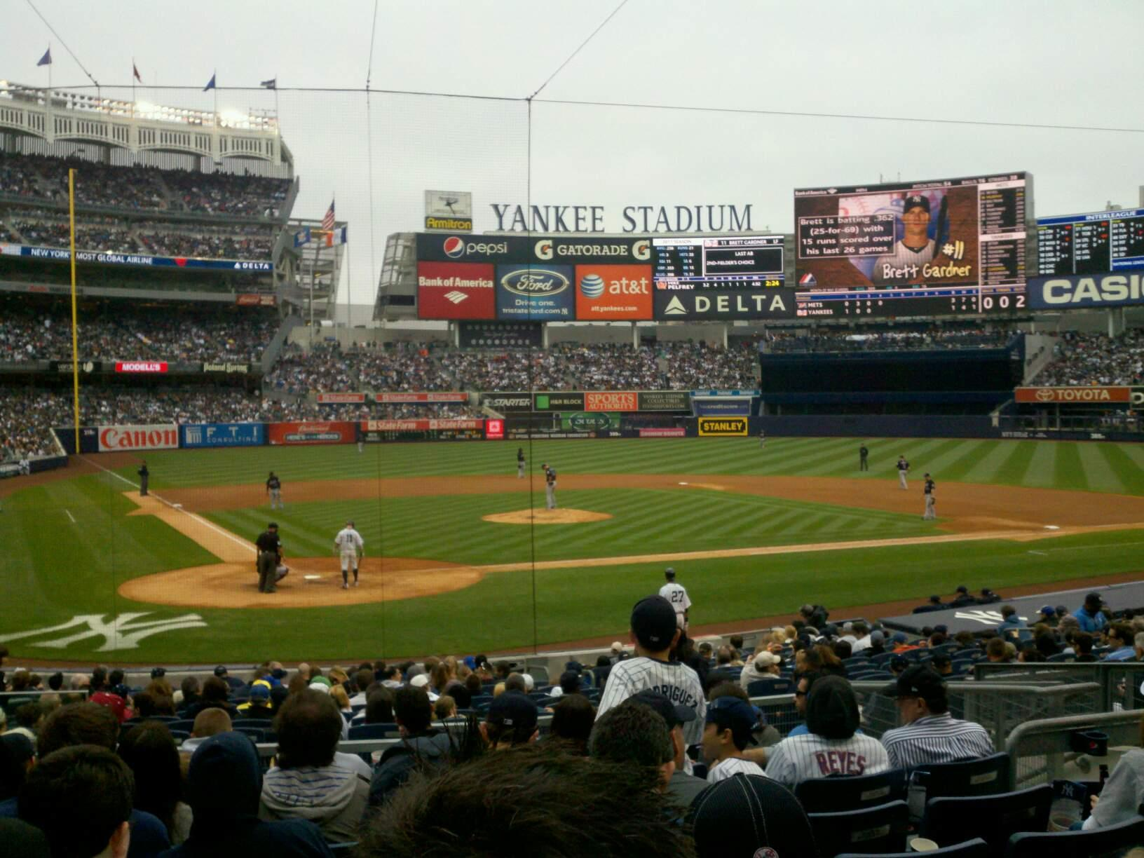 Yankee Stadium Section 118 Row 21 Seat 9