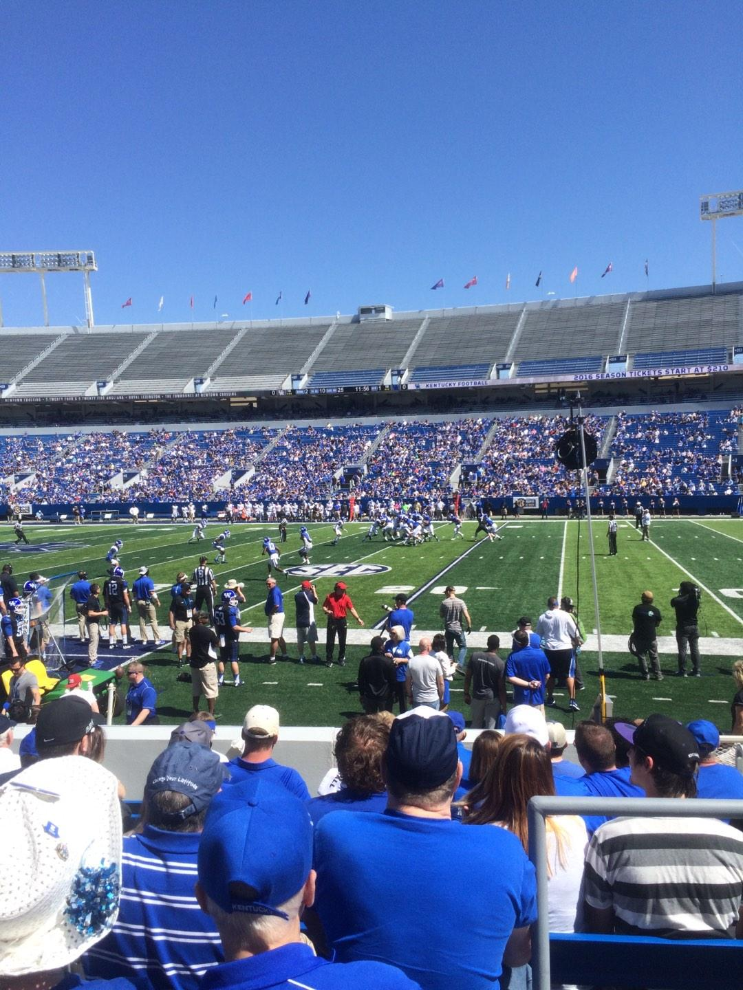 Kroger Field Section 28 Row 10 Seat 15