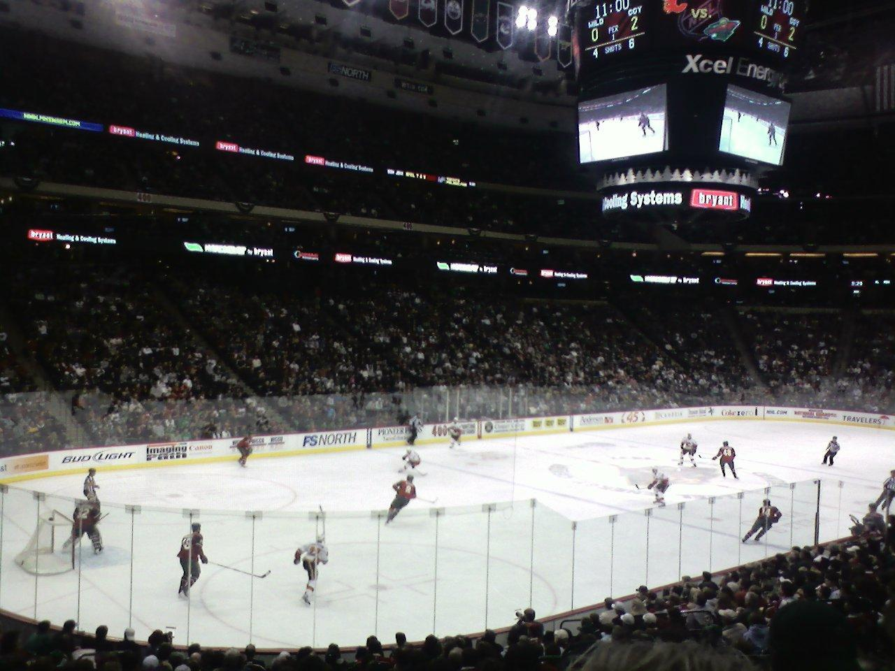 Seat View for Xcel Energy Center Section 120, Row 19, Seat 7
