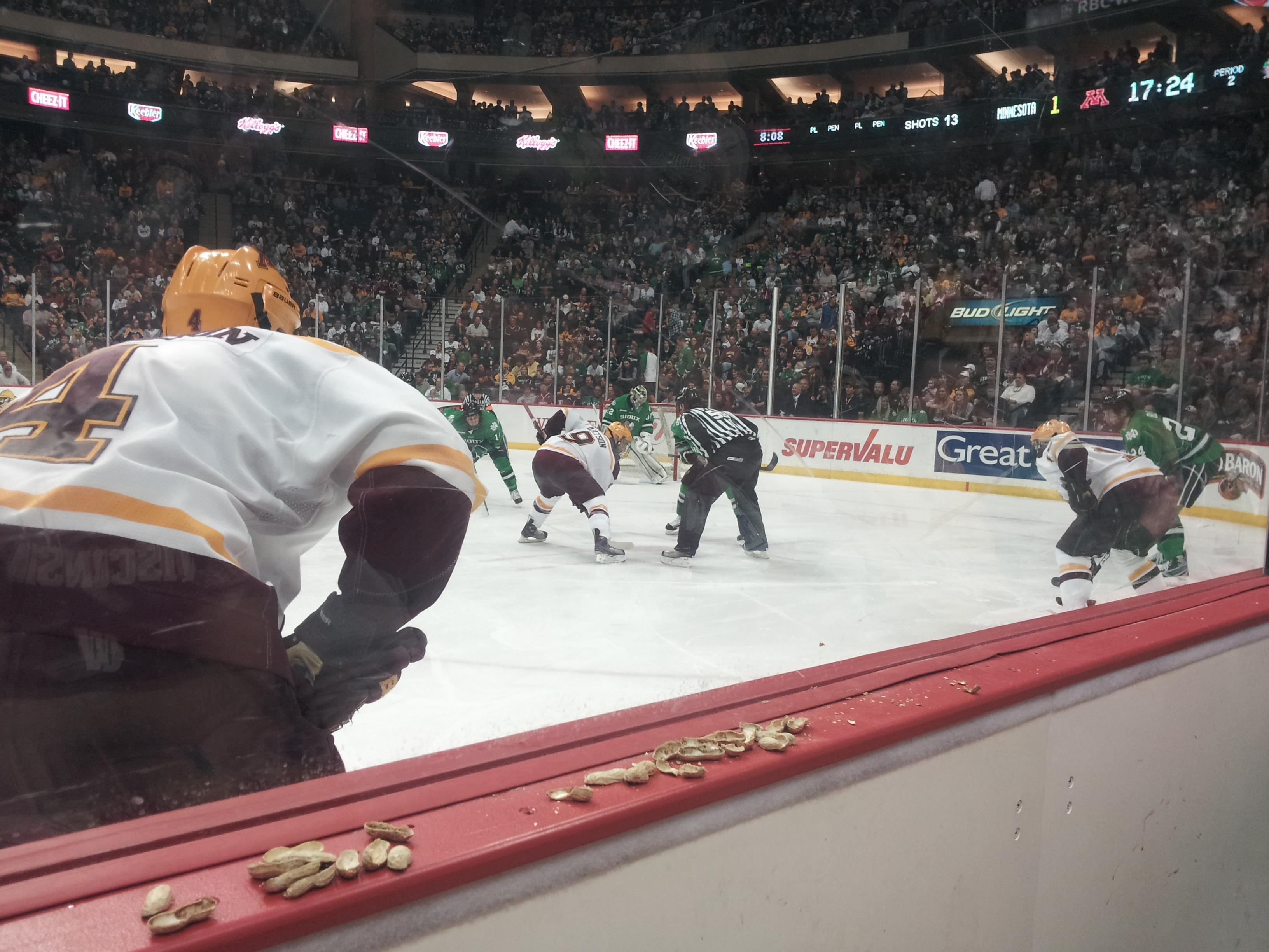 Seat View for Xcel Energy Center Section 102, Row 1, Seat 15