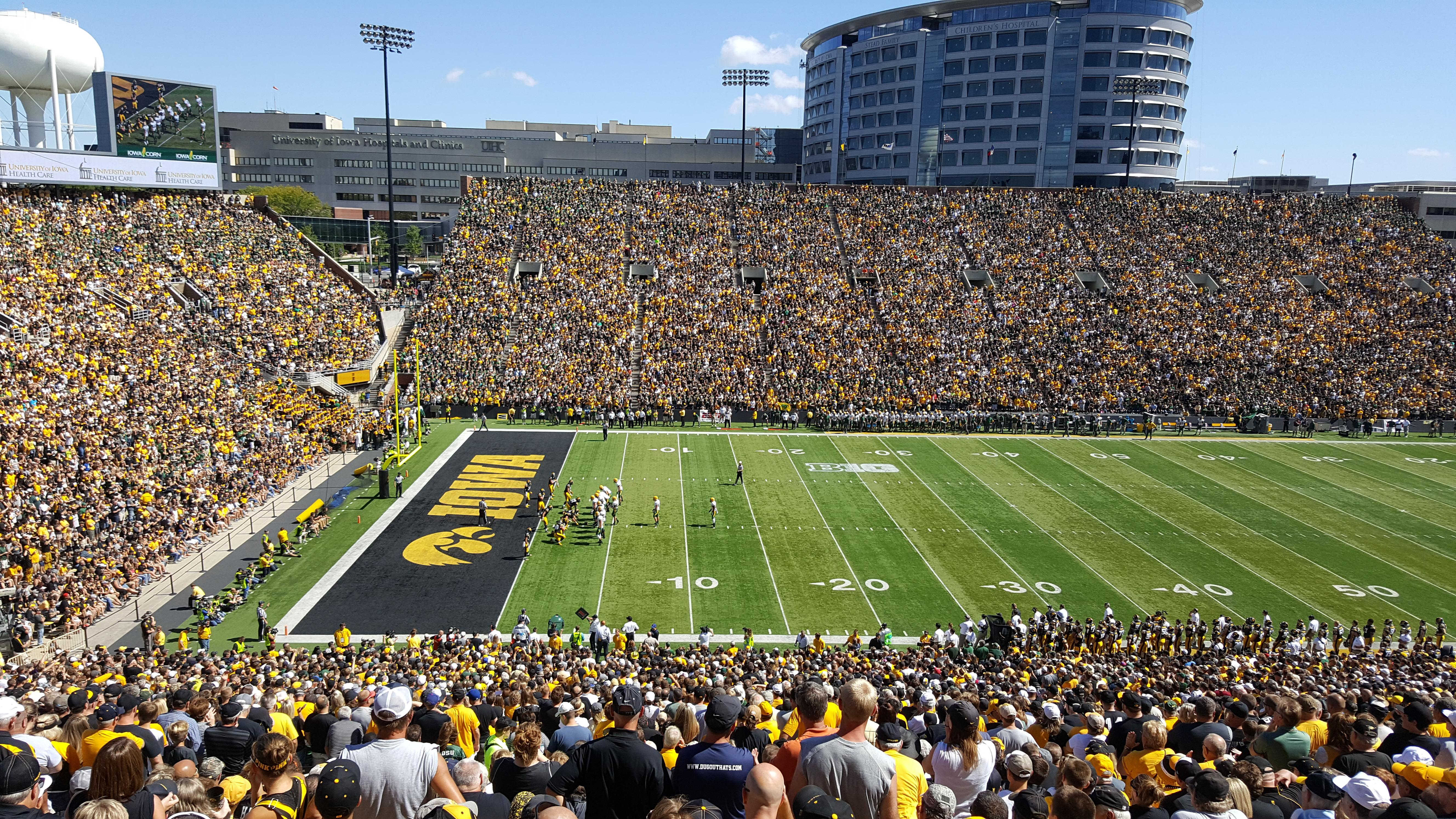 Kinnick Stadium Section 129 Row 64 Seat 20