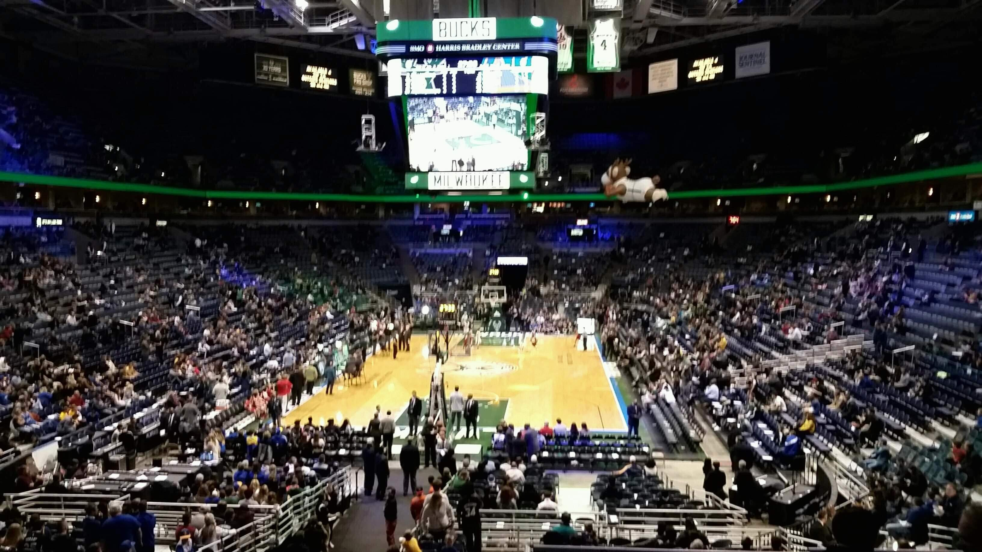 BMO Harris Bradley Center Section 221 Row Y Seat 3