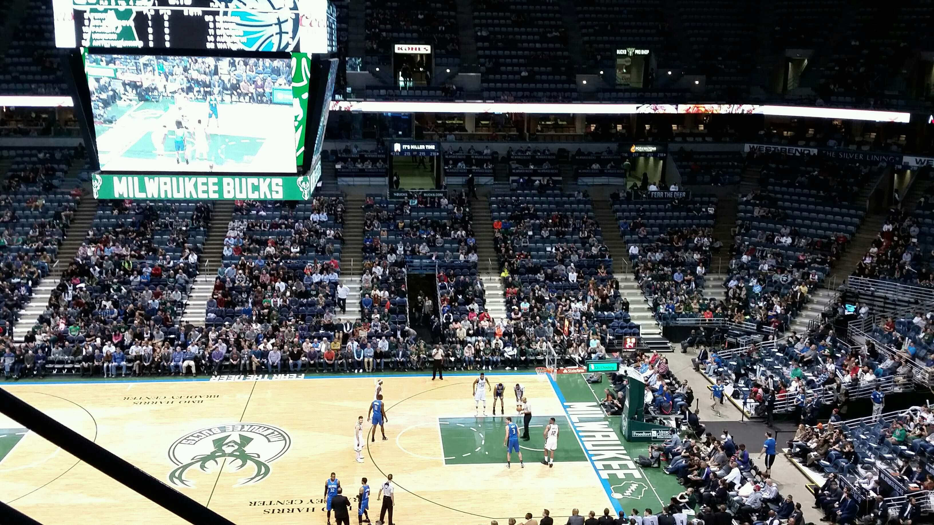 BMO Harris Bradley Center Section 443 Row F Seat 12