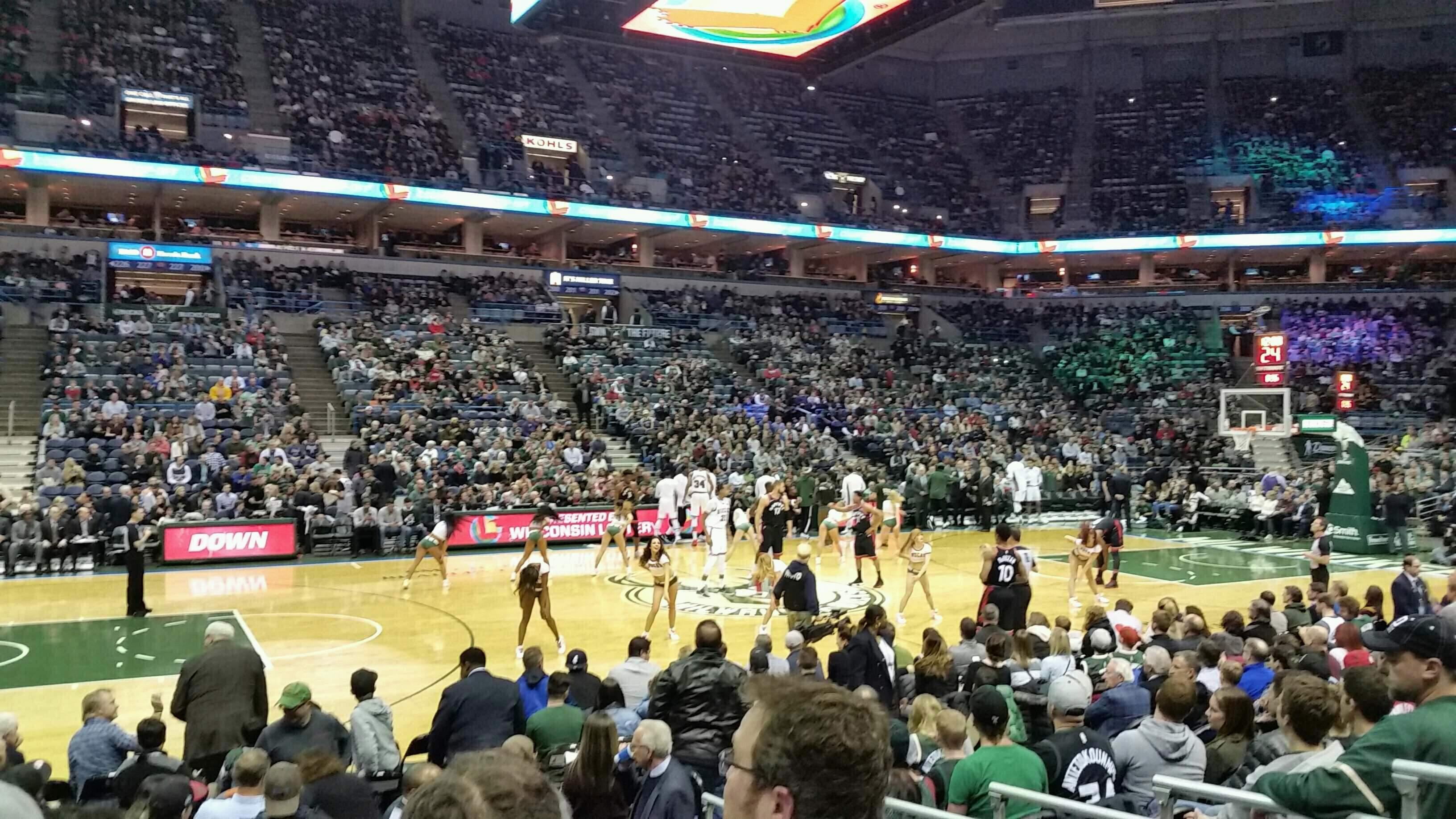 BMO Harris Bradley Center Section 215 Row H Seat 12