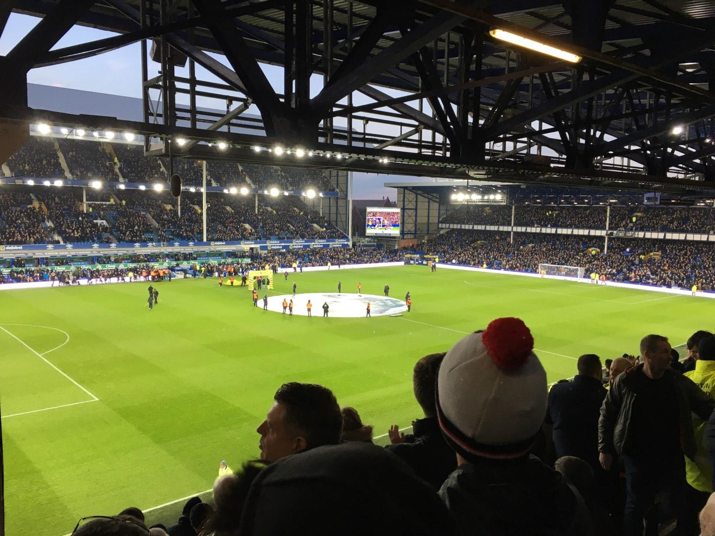 Goodison Park Section UV1 Row L Seat 0044