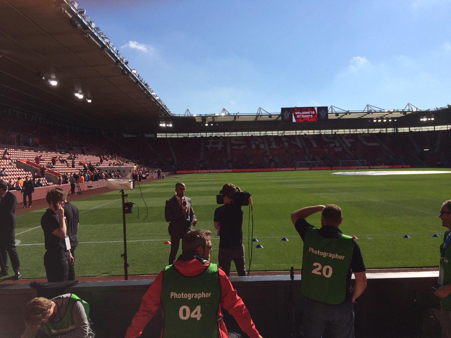 St Mary's Stadium Section 45 Row C Seat 1173