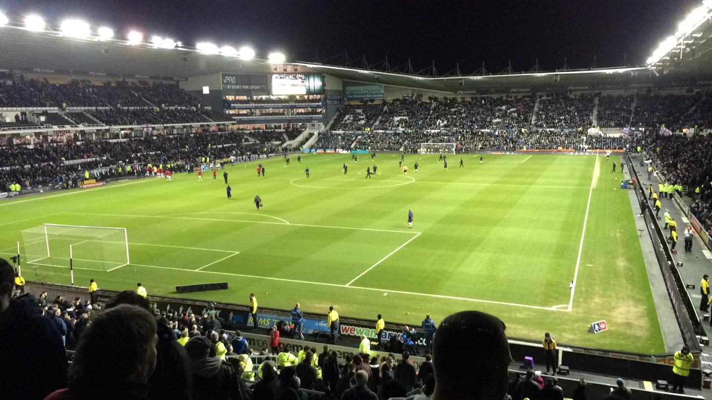 Pride Park Section 54 Row P Seat 618