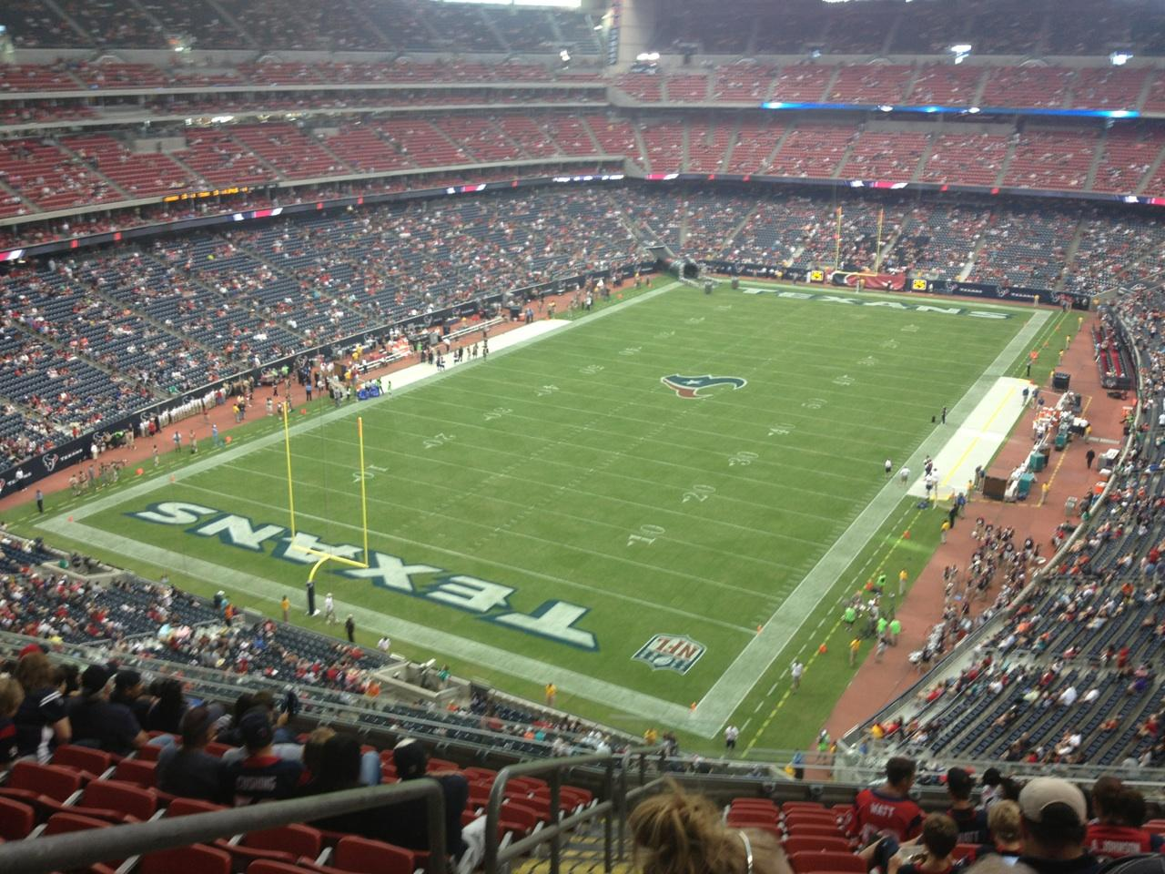 Nrg Stadium Section 543 Row M Seat 17 Houston Texans Vs