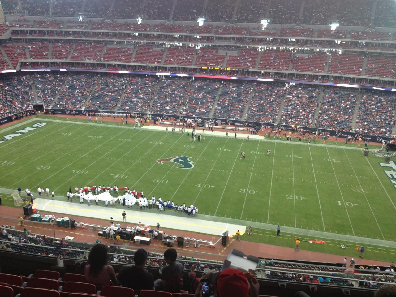 NRG Stadium Section 532 Row M Seat 21