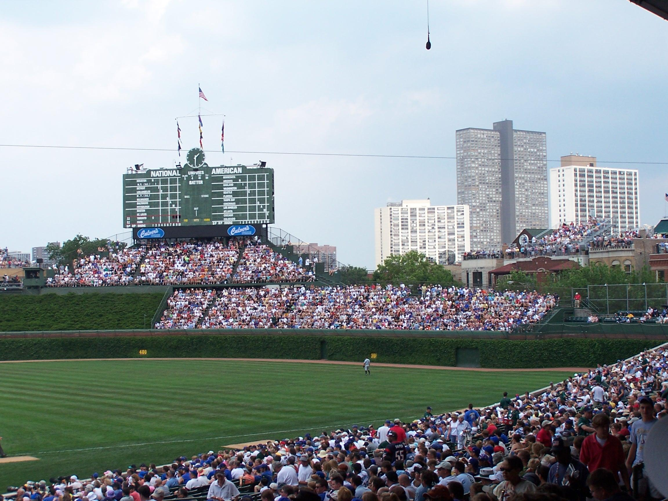 Wrigley Field section 228 - Chicago Cubs vs Toronto Blue ...