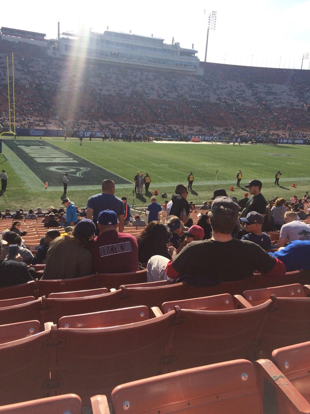 Los Angeles Memorial Coliseum Section 125A Row 25 Seat 11