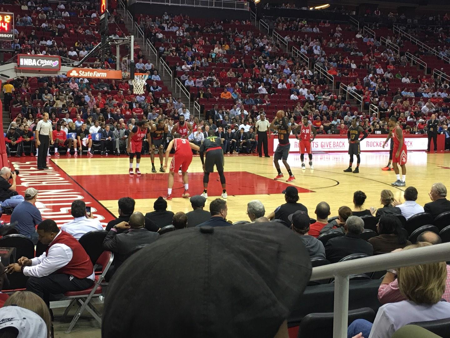 Toyota Center Section 109 Row 5