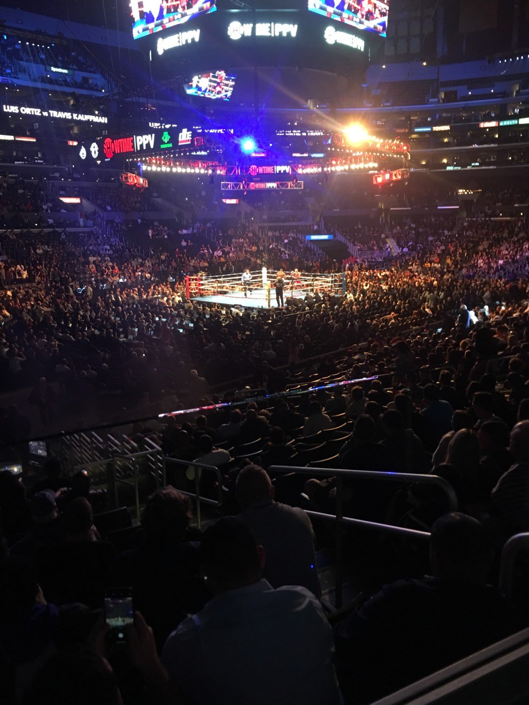 Staples Center Section 114 Row 18w Seat 2