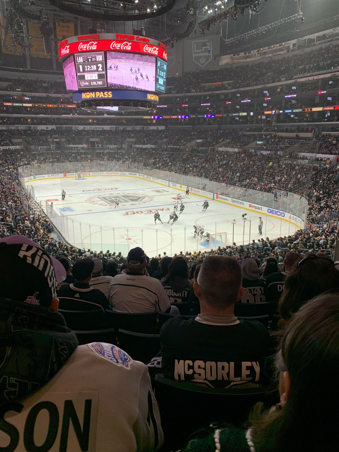 Staples Center Section 218 Row 11 Seat 13