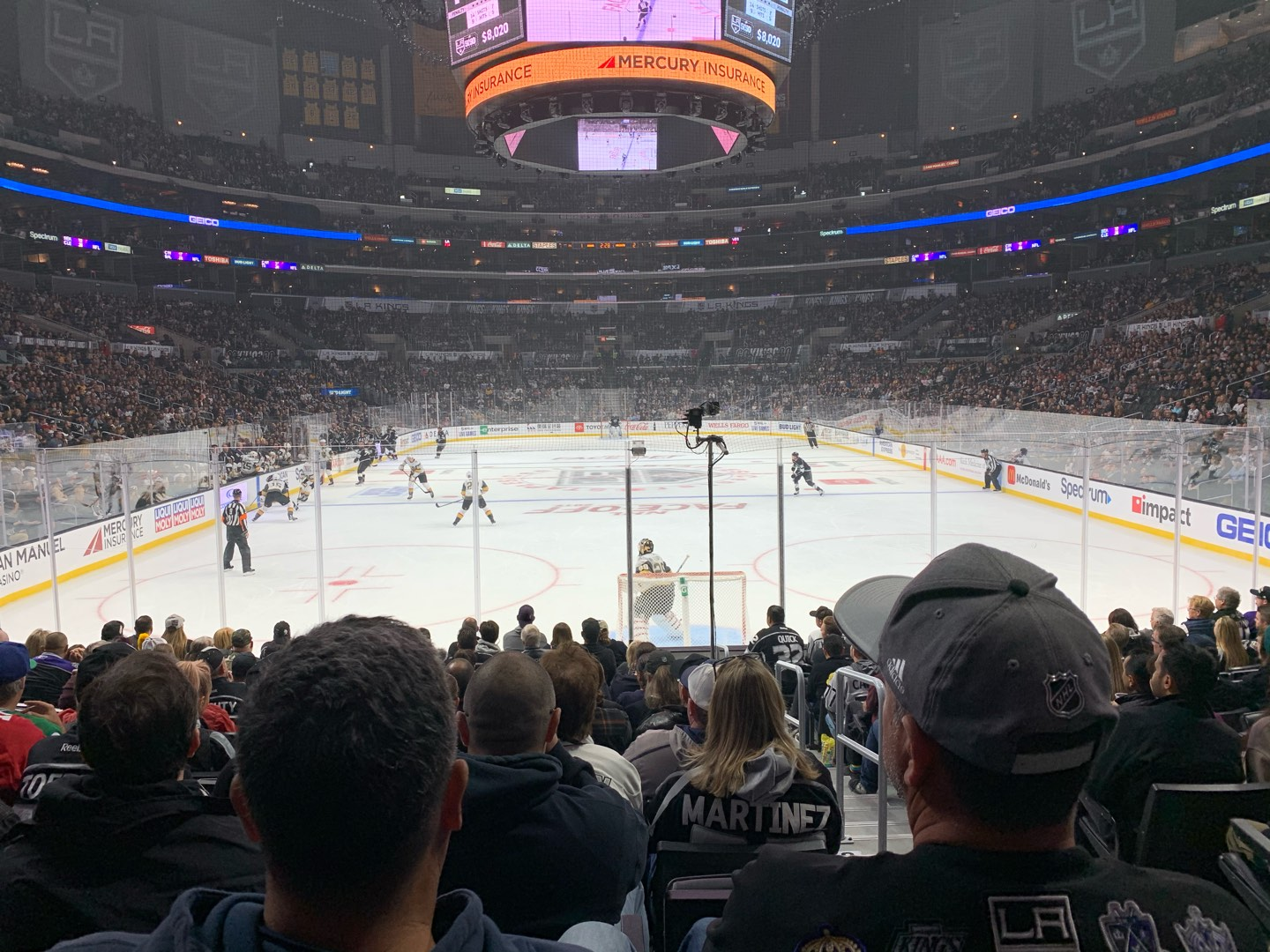 Staples Center Section 106 Row 8 Seat 3
