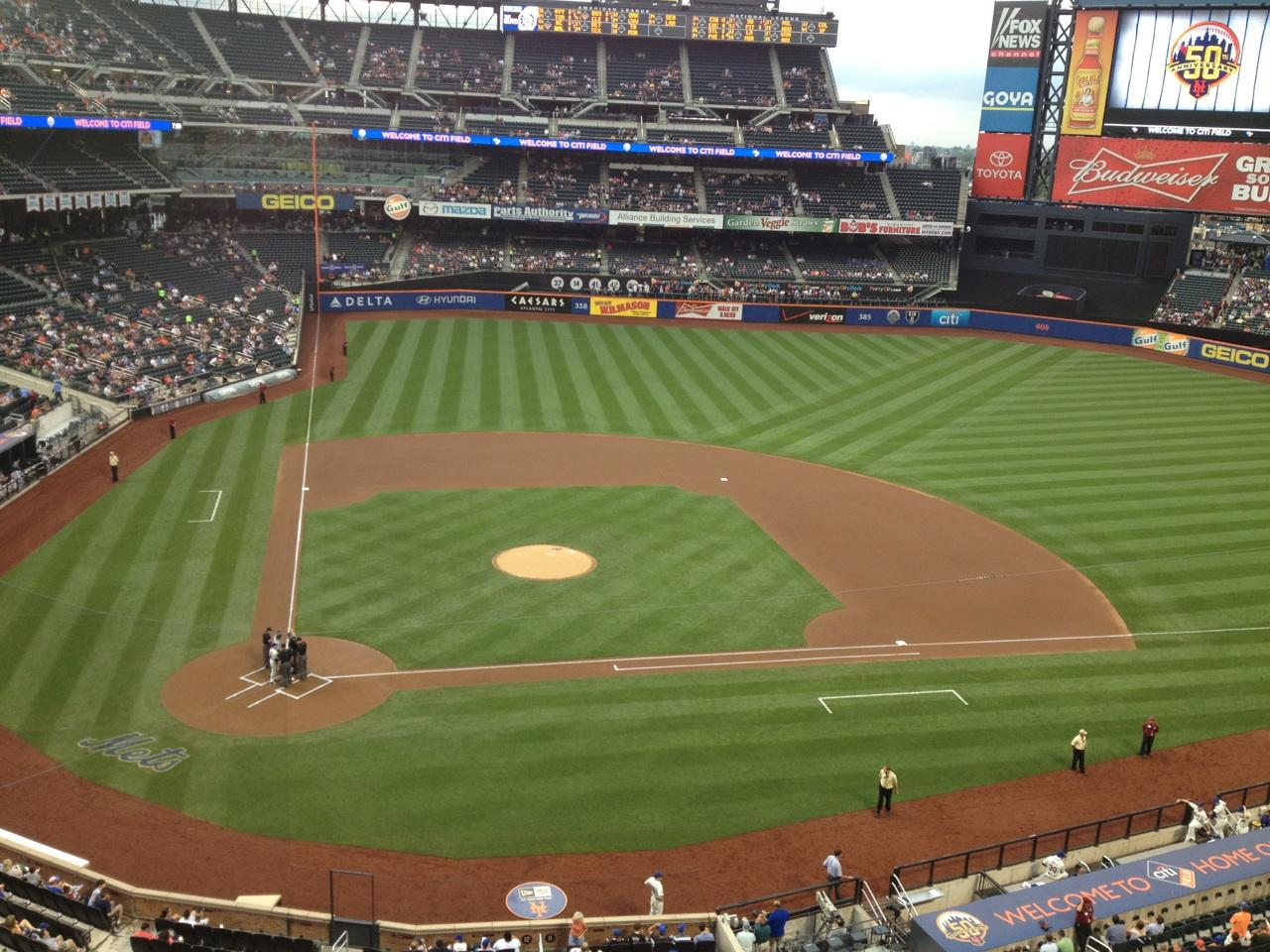 Citi Field section 410 row 1 seat 8 - New York Mets vs ...