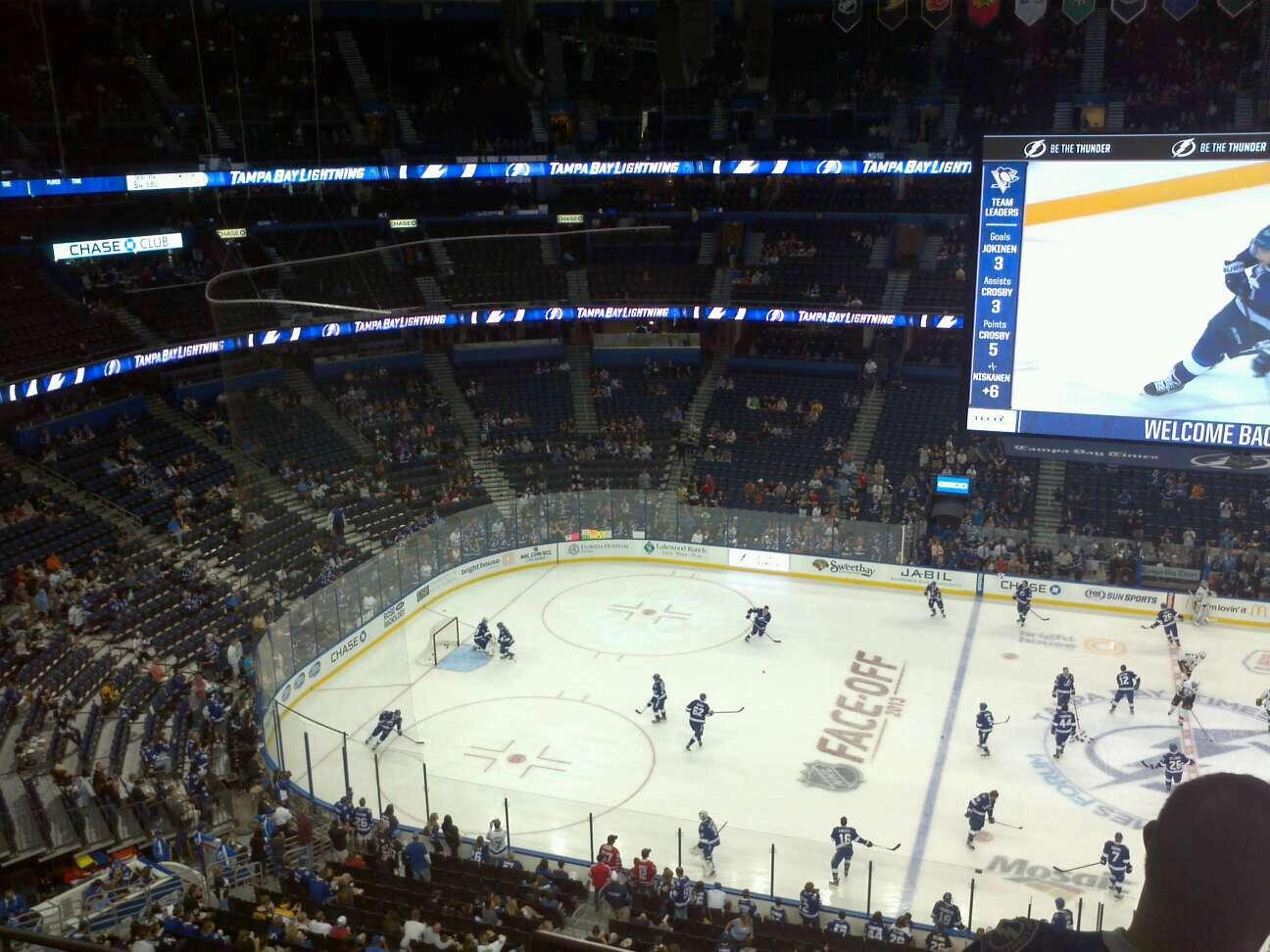 Amalie Arena Section 316 Row C Seat 12