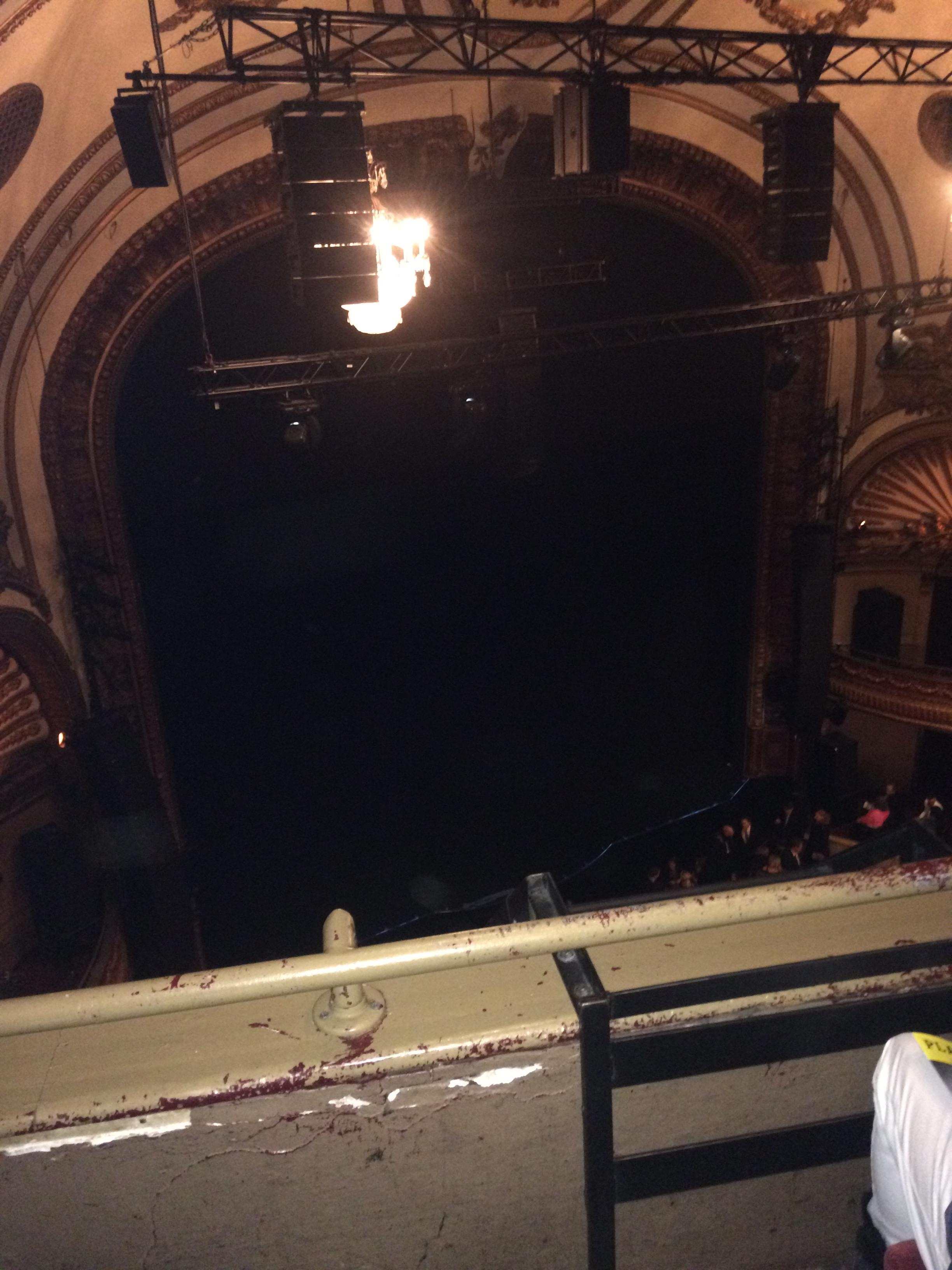 Palace Theatre (Broadway) Section Balcony left Row B Seat 17