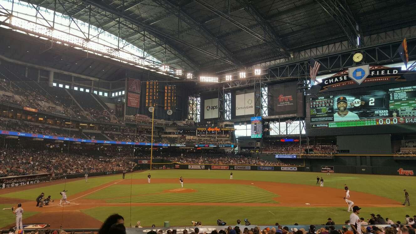 Chase Field Section 117 Row 24 Seat 13