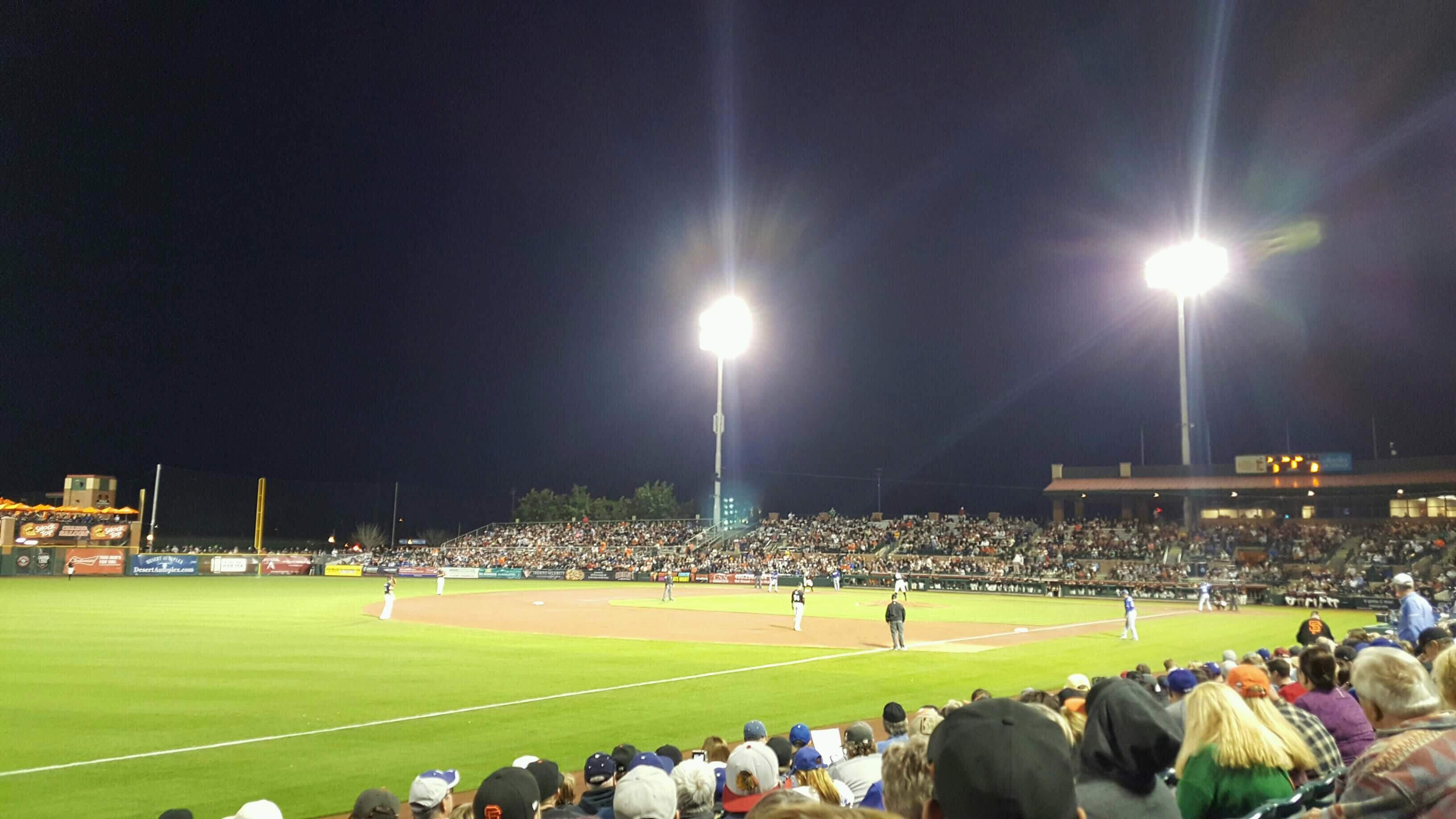 Scottsdale Stadium Section 125 Row H Seat 18