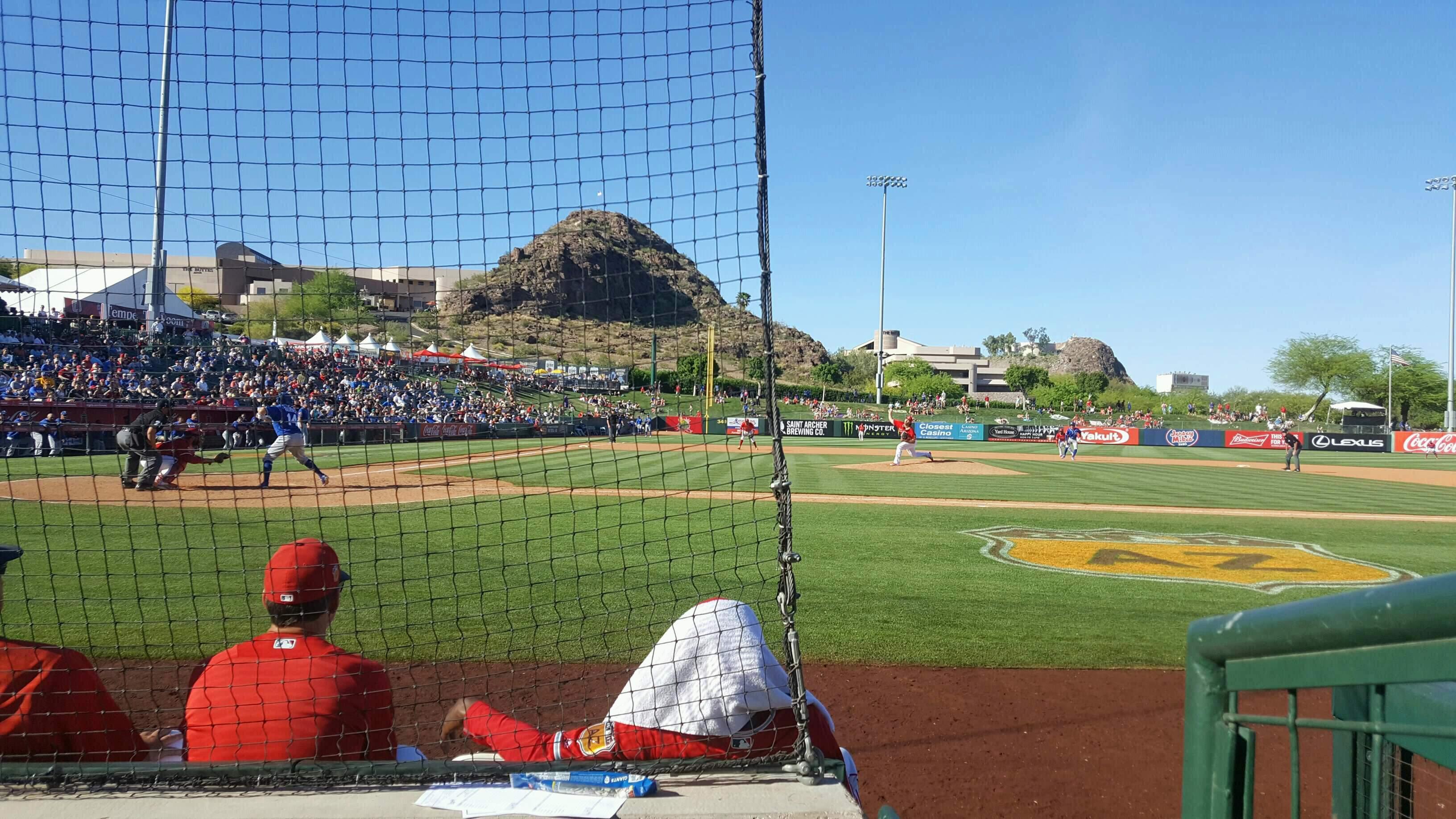 Tempe Diablo Stadium Section 15 Row C Seat 9