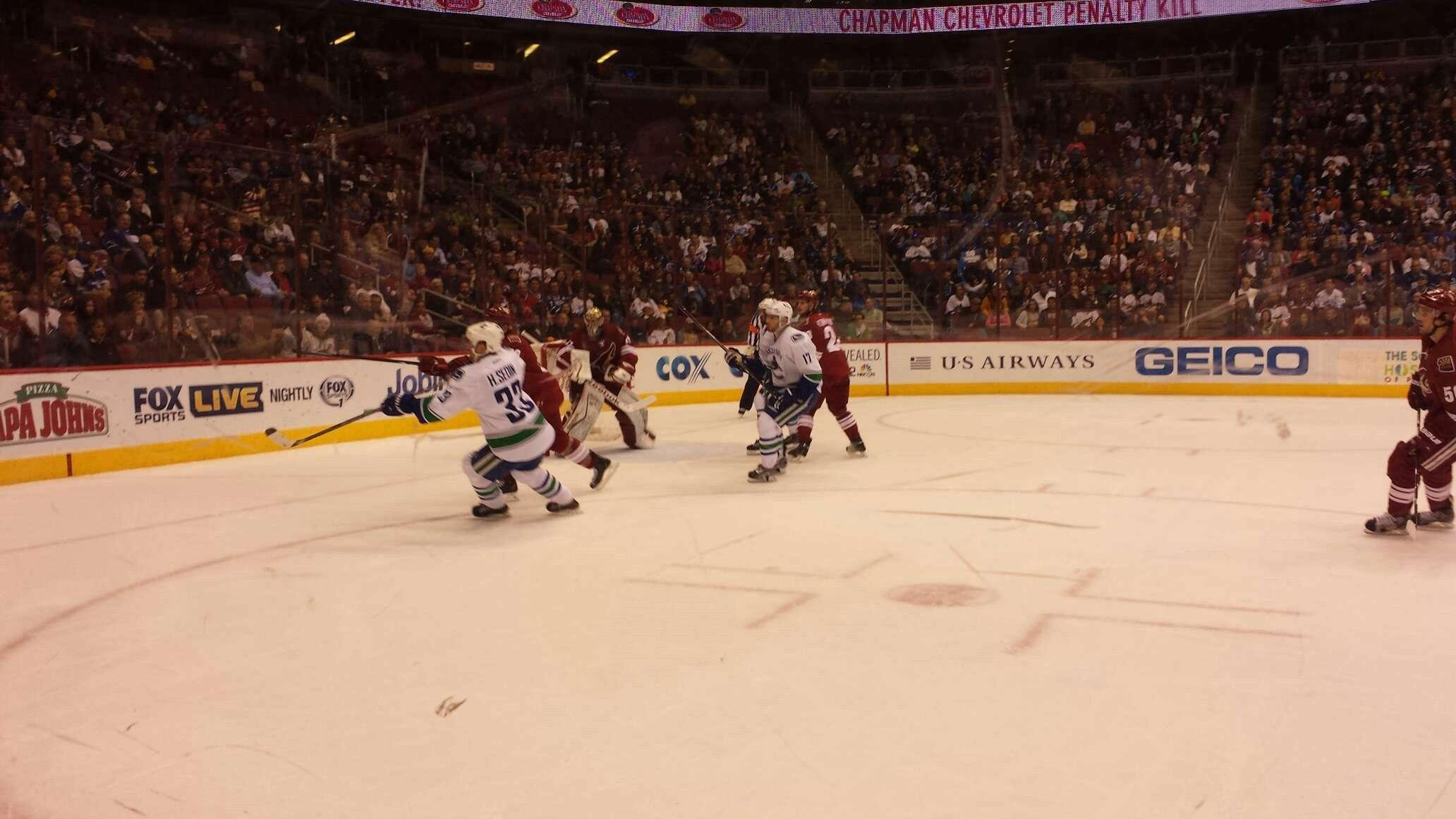 Gila River Arena Section 114 Row A Seat 15