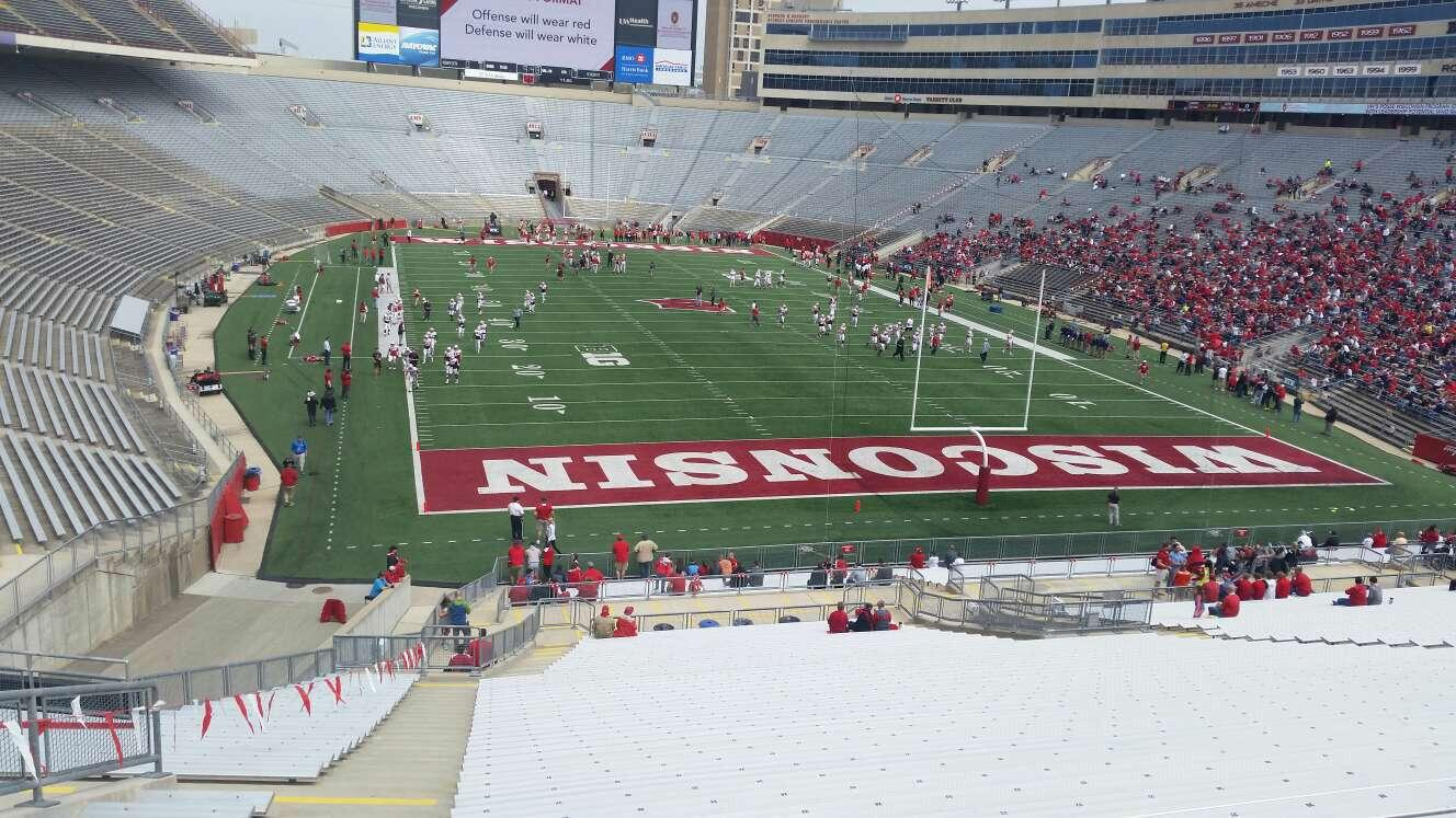 Camp Randall Stadium Section z3 Row 57 Seat 36