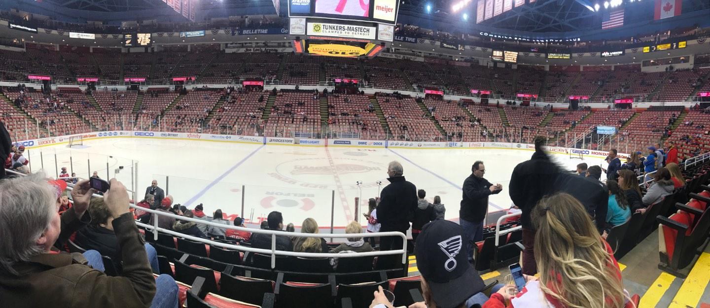 Joe Louis Arena Section 122 Row 11 Seat 5