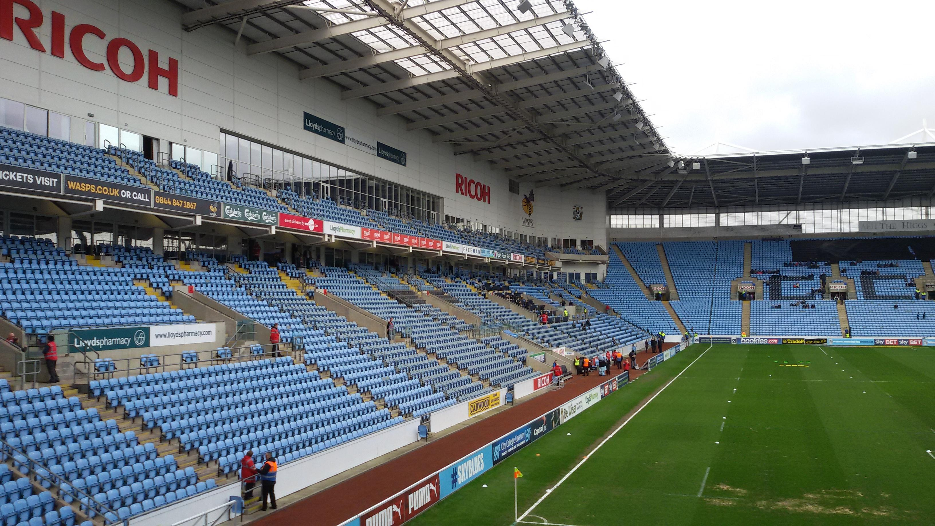 Ricoh Arena Section 8 Row T Seat 22