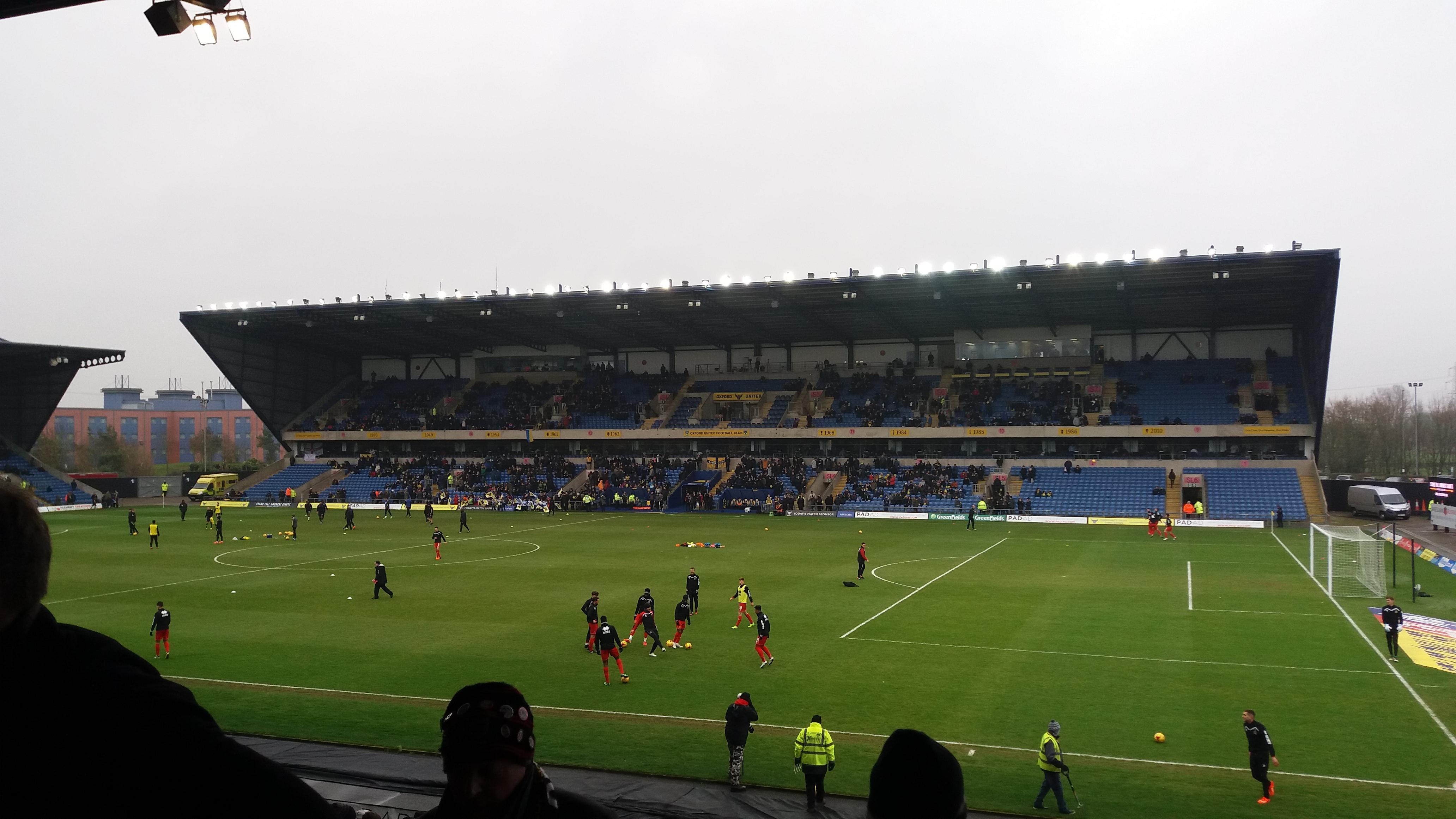 Kassam Stadium Section North Stand Row T