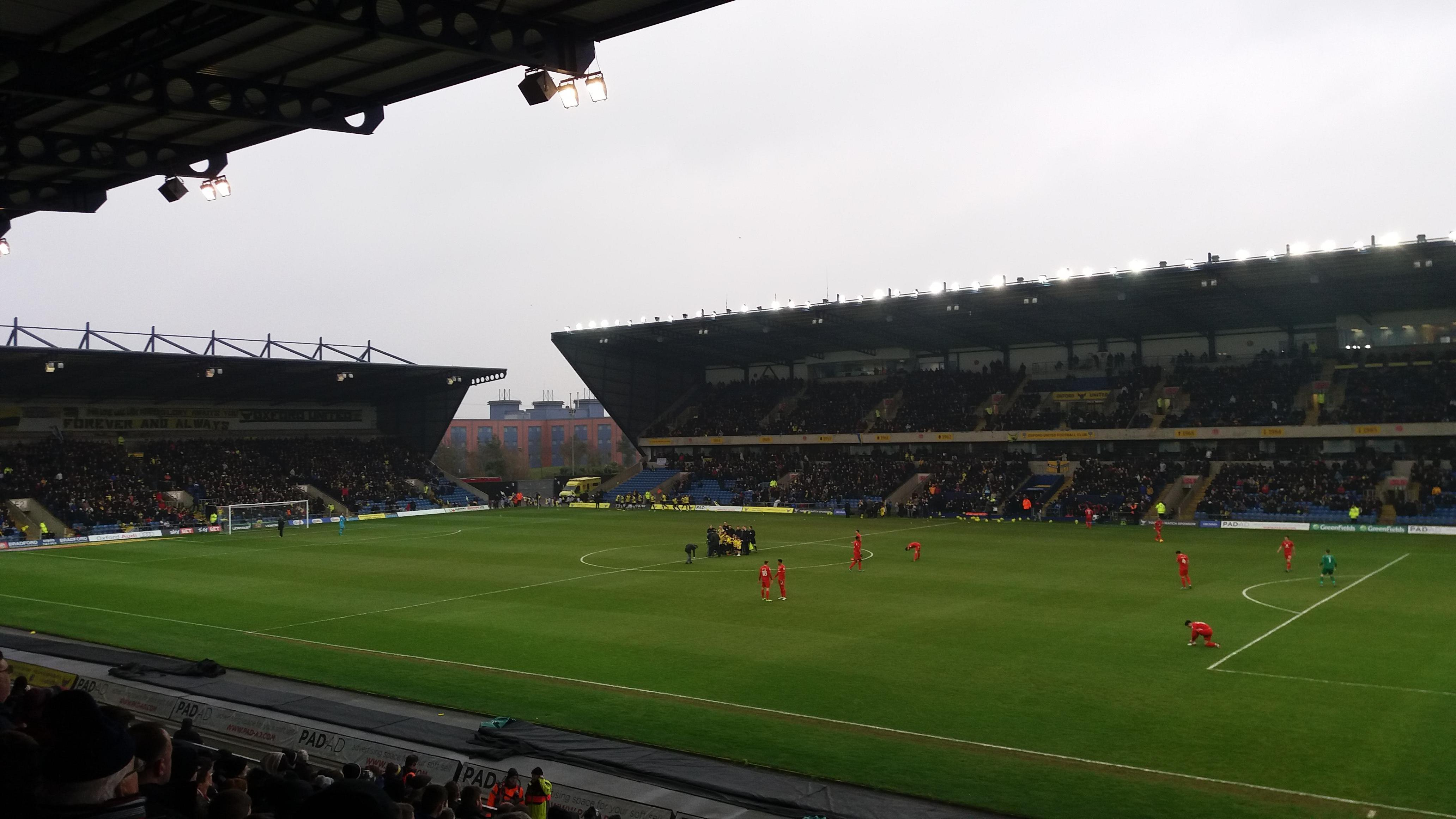 Kassam Stadium Section North Stand Row T
