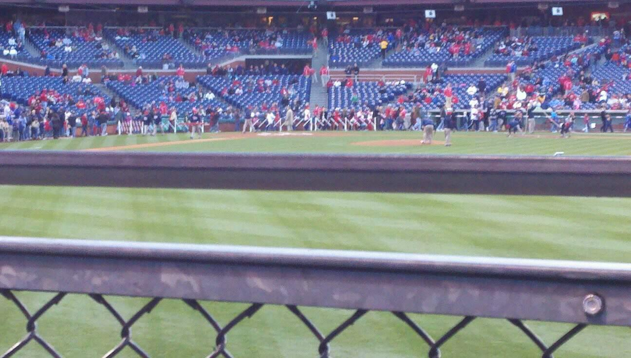Citizens Bank Park Section 103 Row 2 Seat 2