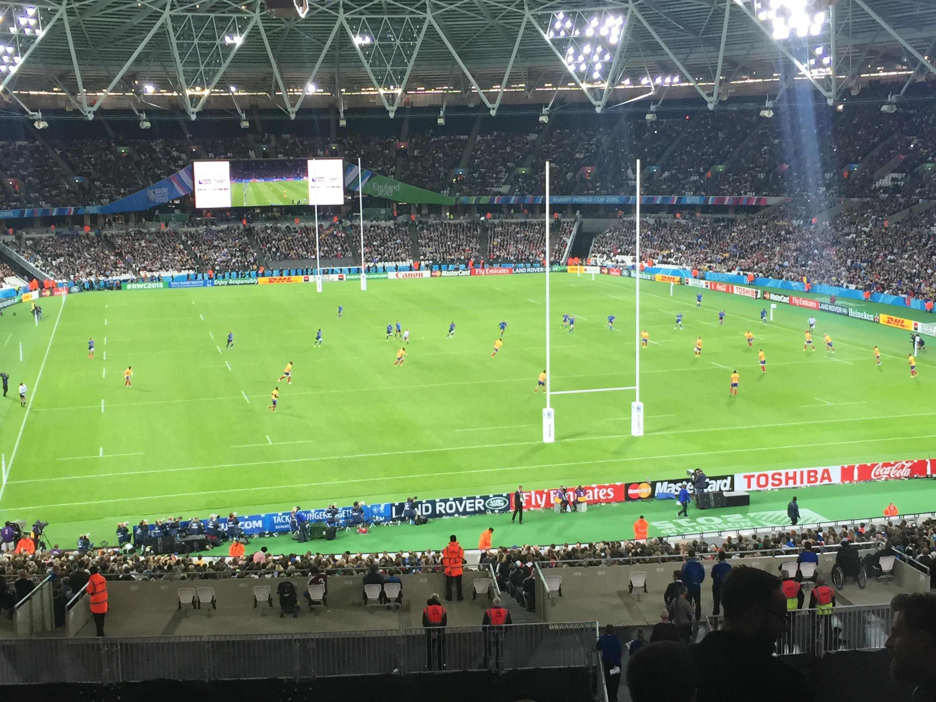 London Stadium Section 220 Row 50 Seat 67