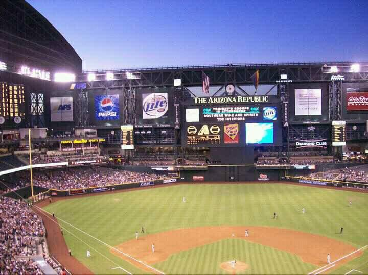 Chase Field Section 316 Row 15 Seat 14