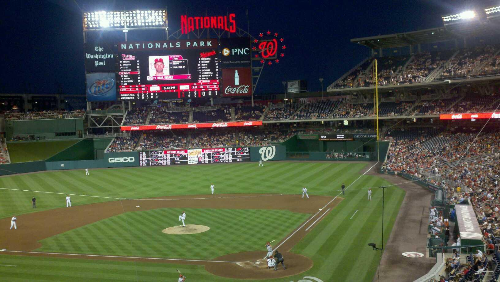 Nationals Park Section 211 Row A Seat 3