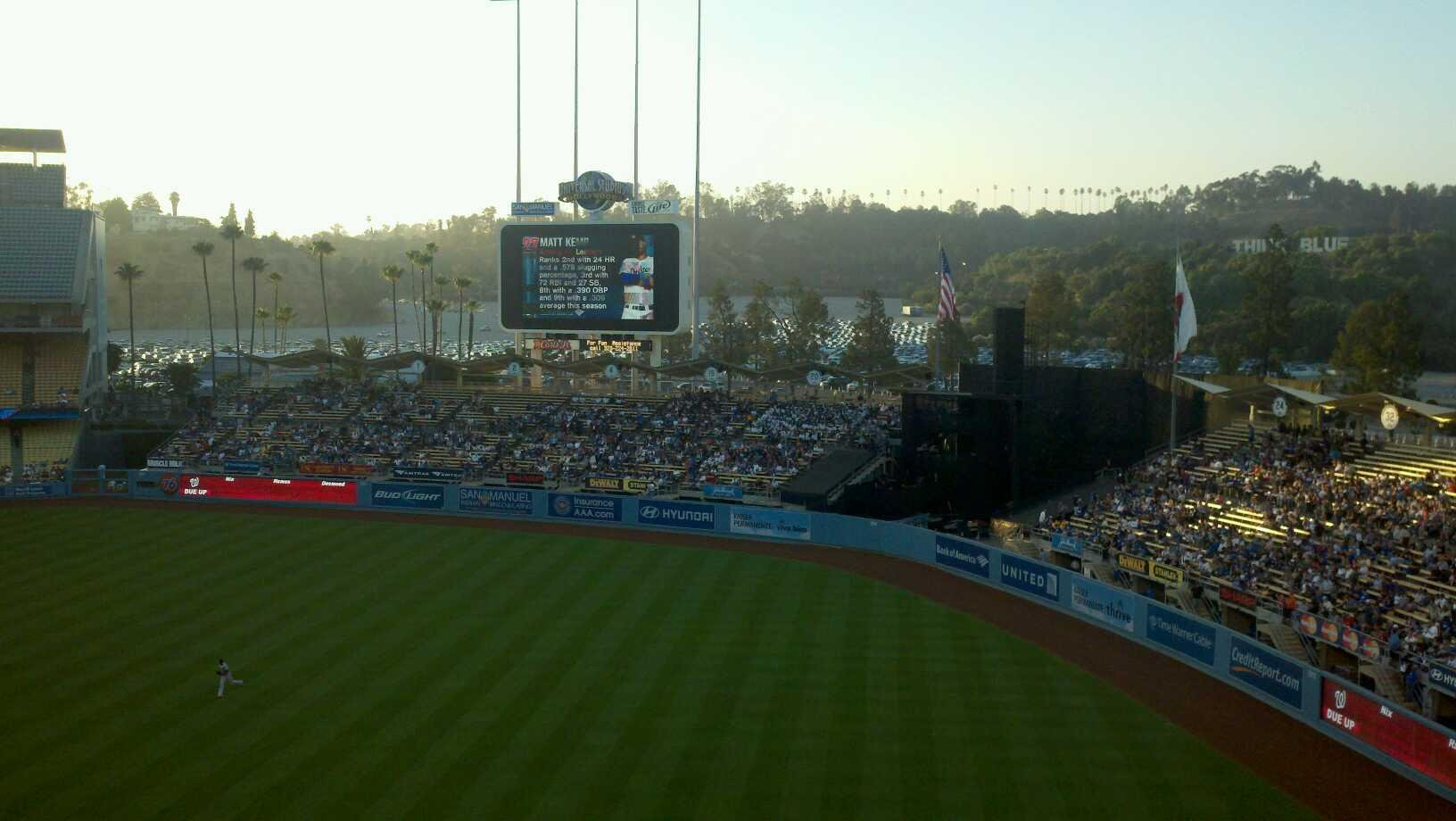 Dodger Stadium Section 40RS Row A Seat 1