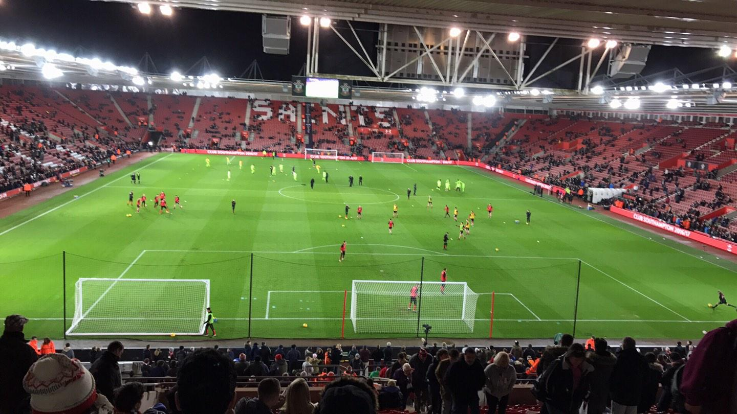 St Mary's Stadium Section D Row OO Seat 498