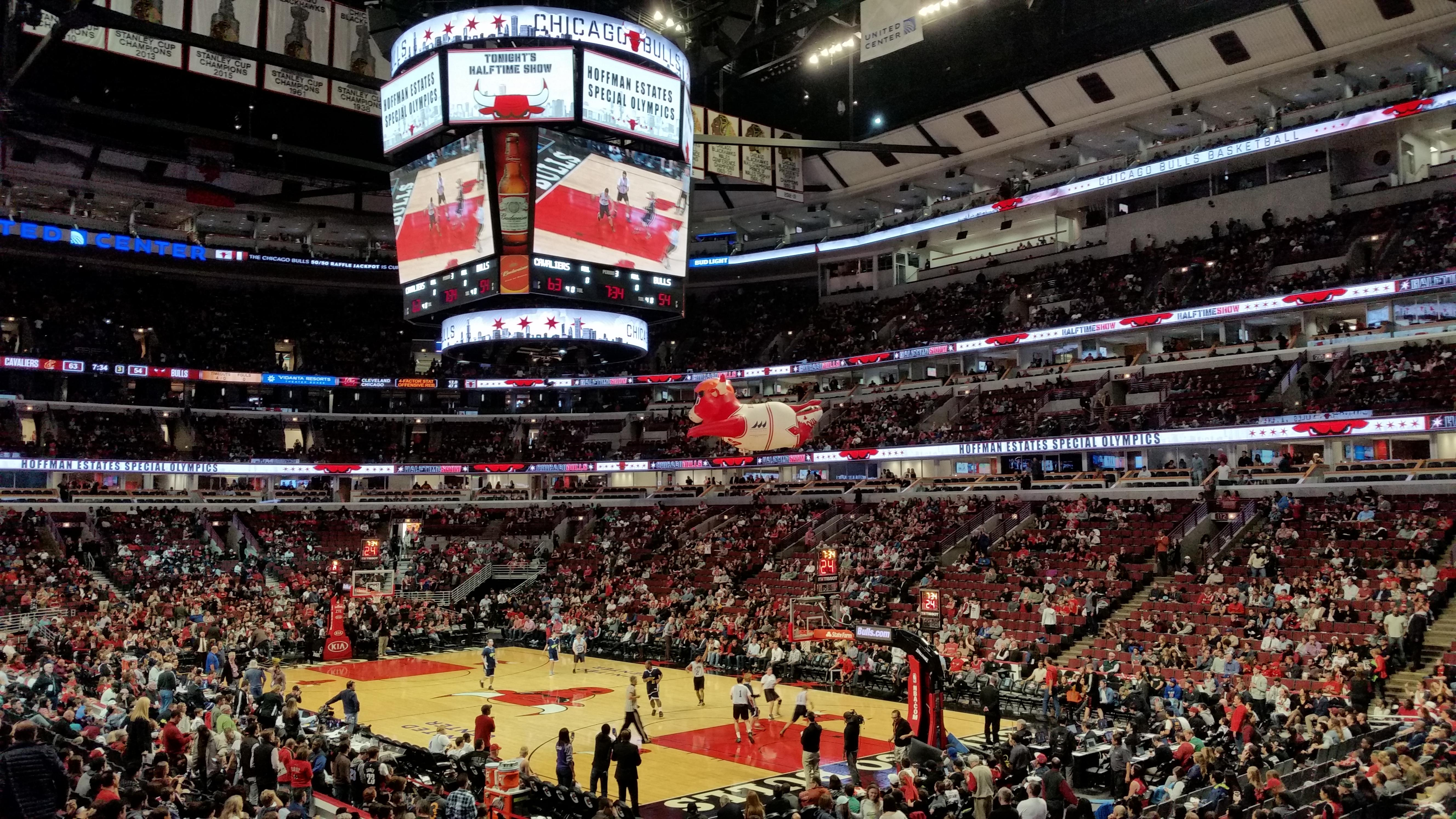 United Center Section 119 Row 17 Seat 19