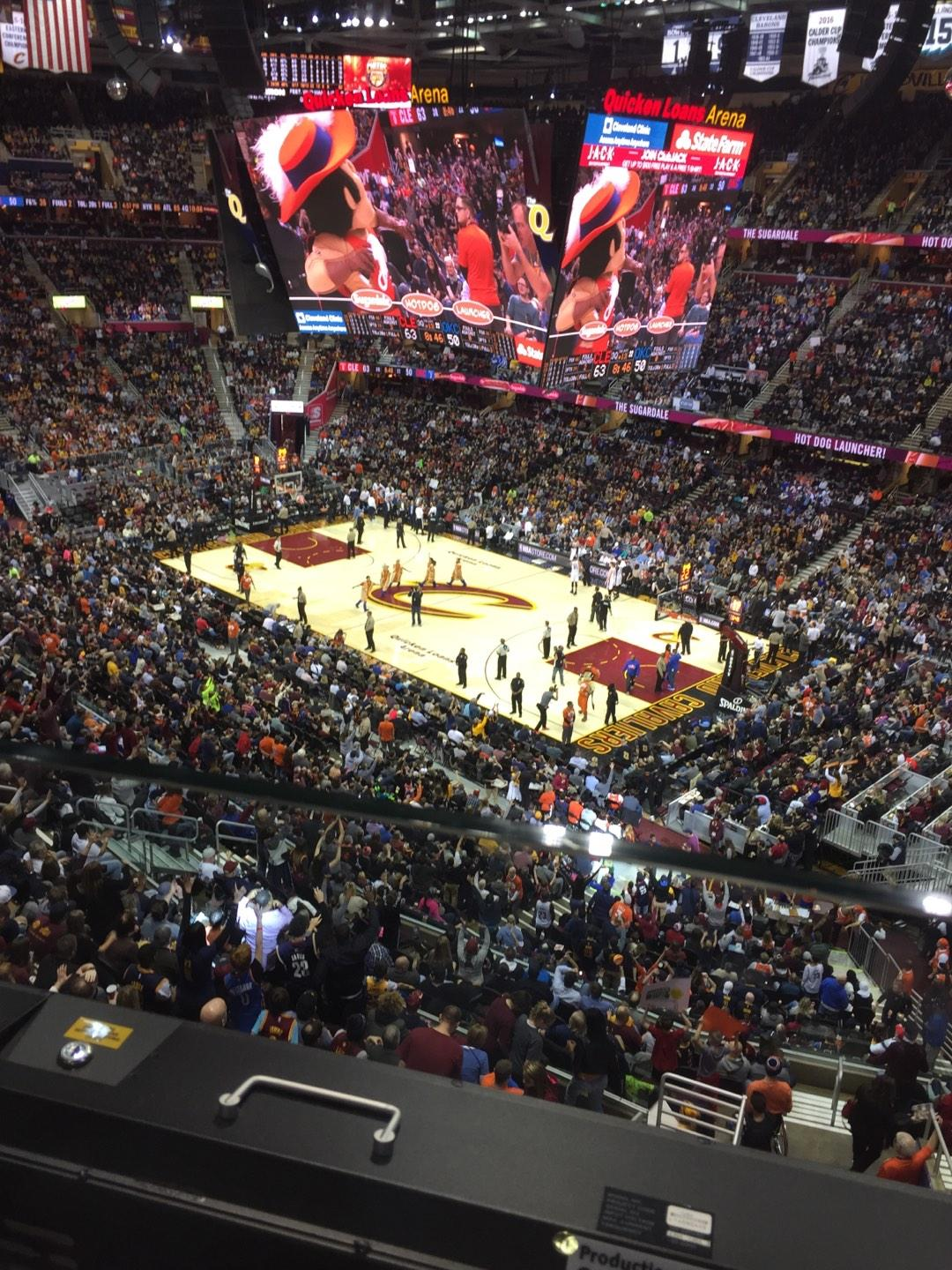 Quicken Loans Arena Section 212 Row 1 Seat 12