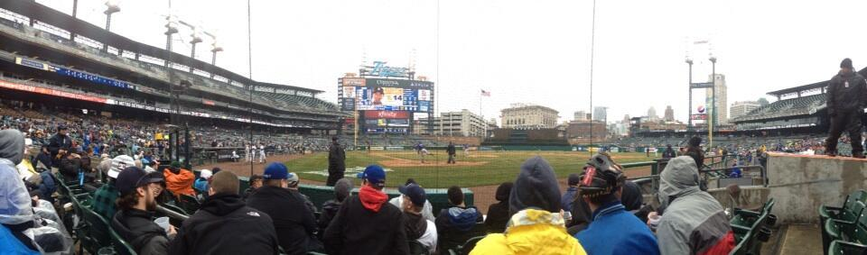 Comerica Park Section 125 Row 5 Seat 5