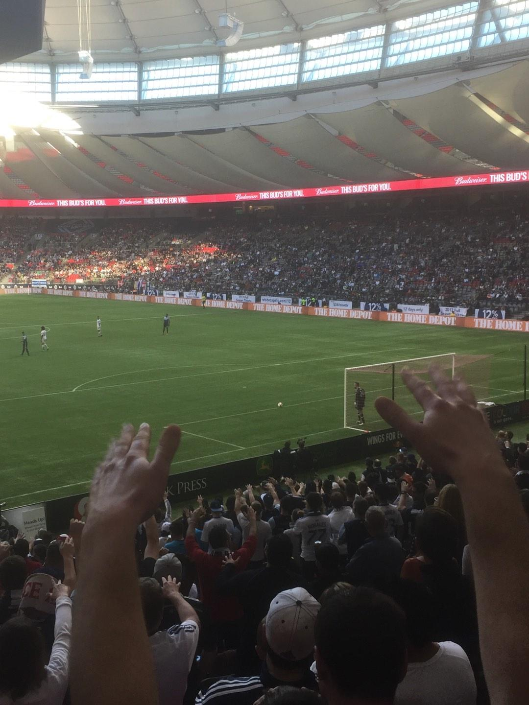 BC Place Section 202 Row E Seat 5