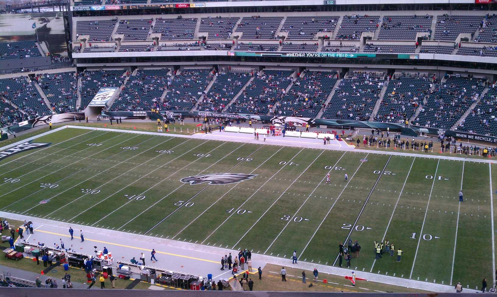 Lincoln Financial Field Section 205 Row 5 Seat 16