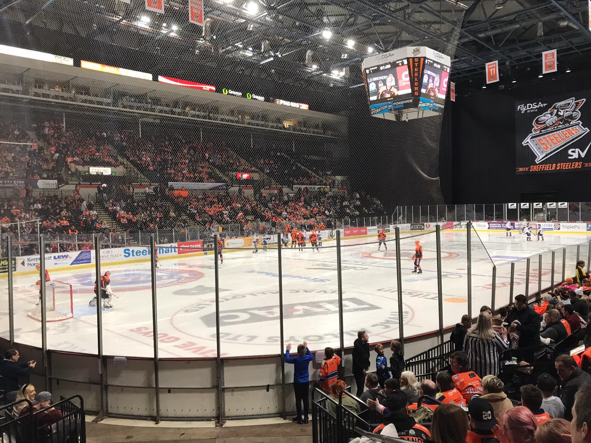Sheffield Arena Section 114 Row K Seat 1