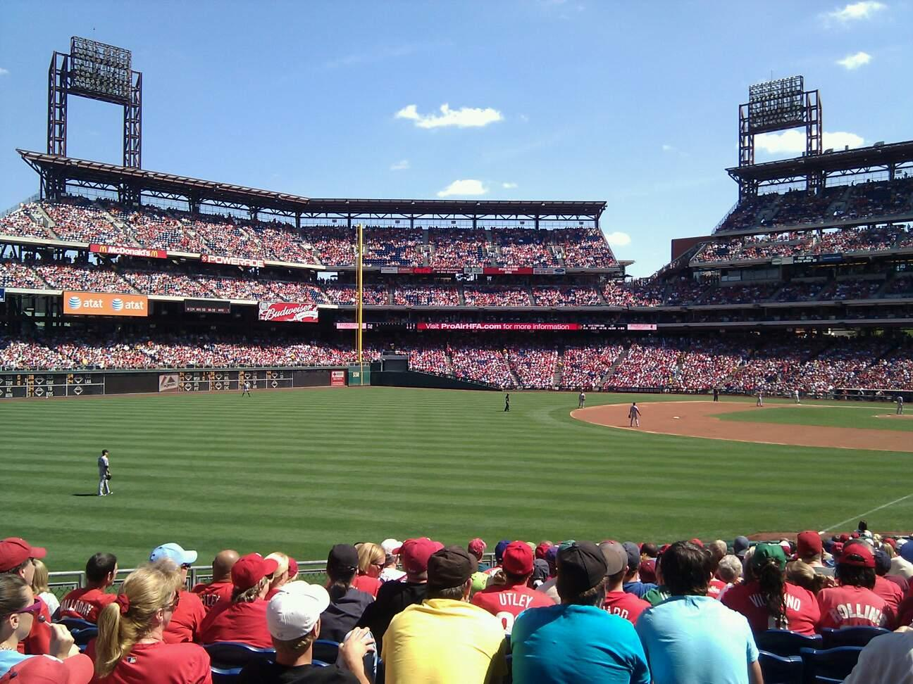 Citizens Bank Park Section 139 Row 29 Seat 11